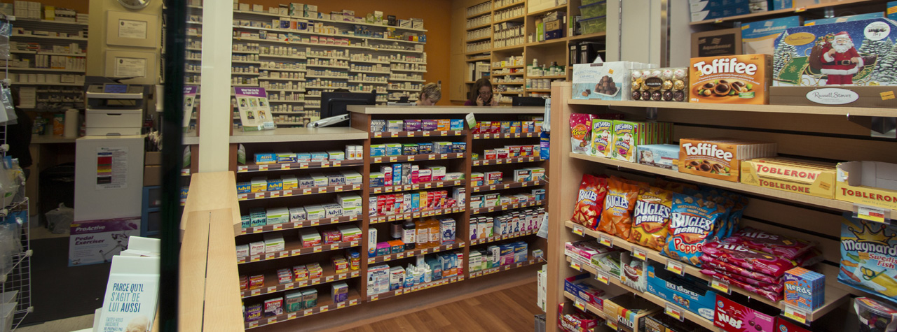 store and pharmacy shelving