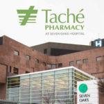tache pharmacy at seven oaks general hospital - exterior hospital with tache logo